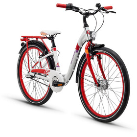 s'cool chiX 24 3-S Juniorcykel Barn alloy röd/vit